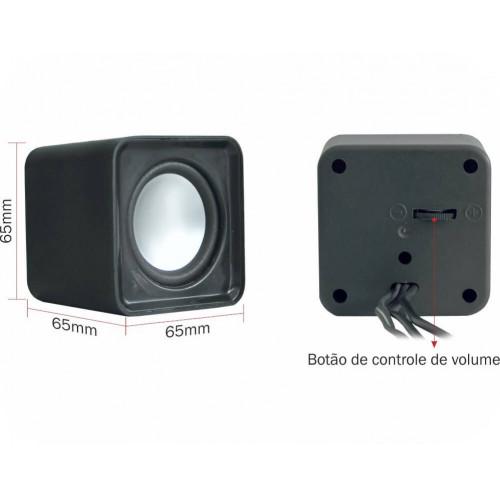 CAIXA DE SOM 2.0 2W K-MEX SP-8900 USB PRETO