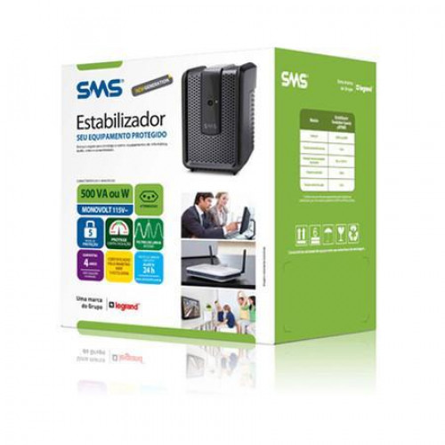 ESTABILIZADOR 500VA MONO SMS SPEEDY USP500S 115